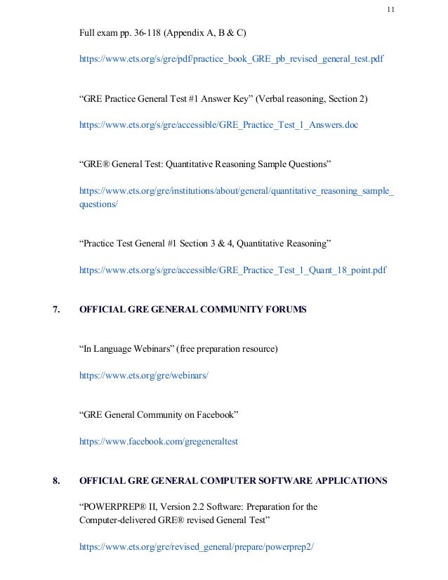 GRE General Test Free Official Resources