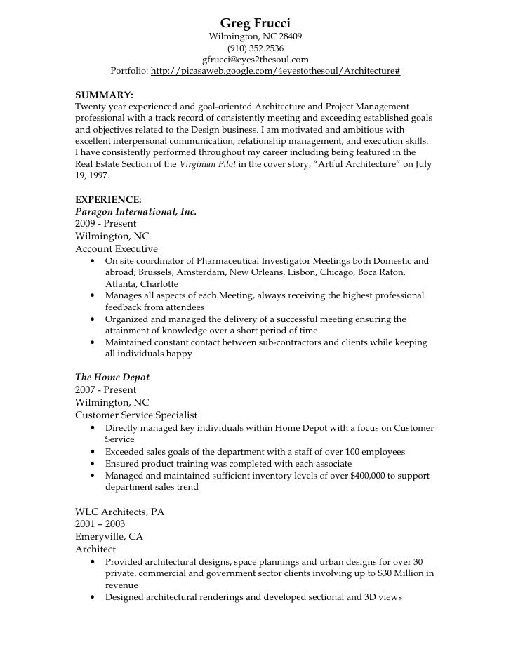 greg frucci resume architect 2010