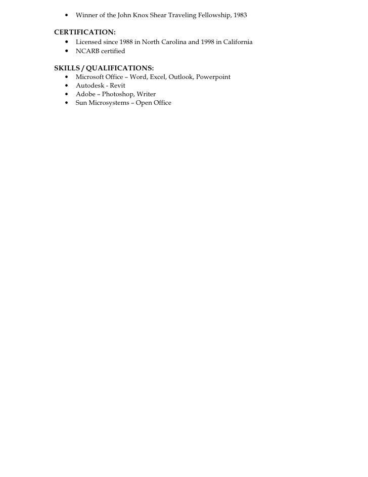 Greg Frucci Resume Architect 2010