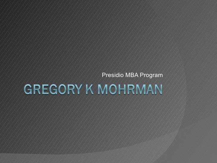 Presidio MBA Program