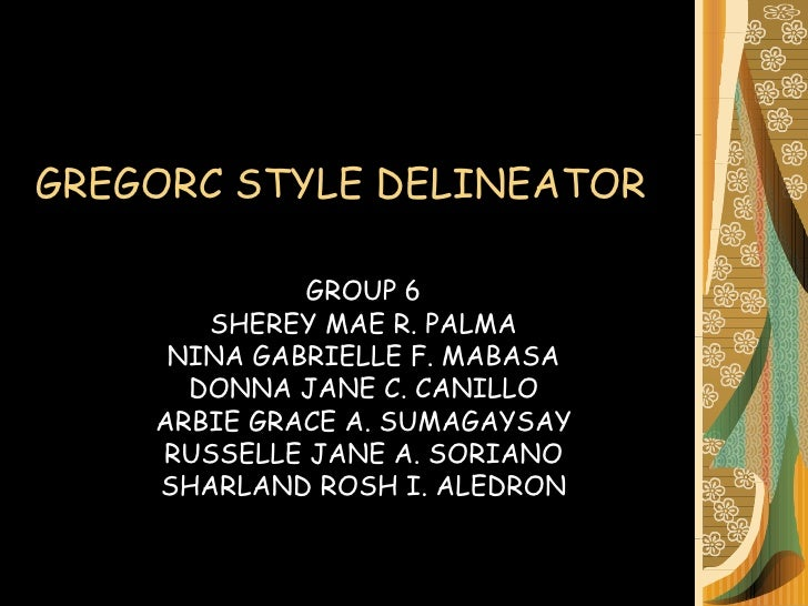 Gregorc adult style delineator