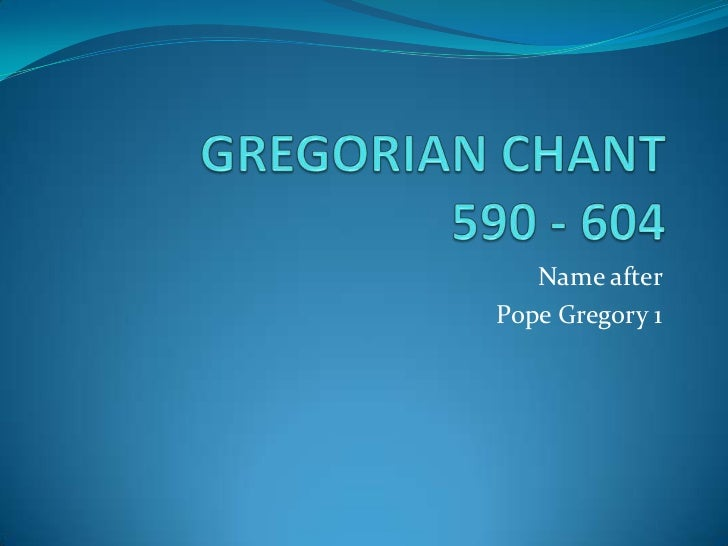 Name afterPope Gregory 1