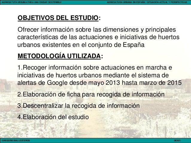 Gregorio Ballesteros: Agricultura urbana en España Slide 2