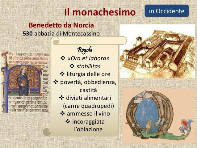 Il monachesimo Benedetto da Norcia 530 abbazia di Montecassino Regola  «Ora et labora»  stabilitas  liturgia delle ore ...
