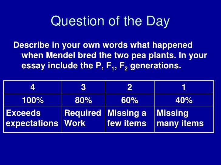 Short essay on gregor mendel