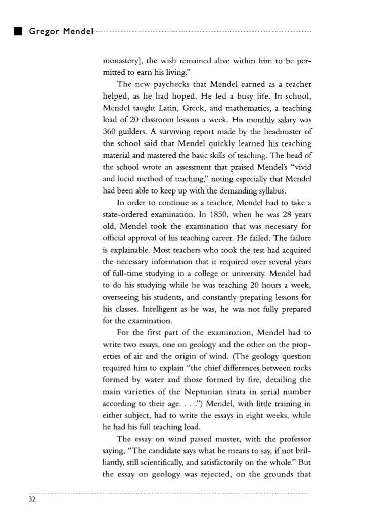 essay on gregor mendel