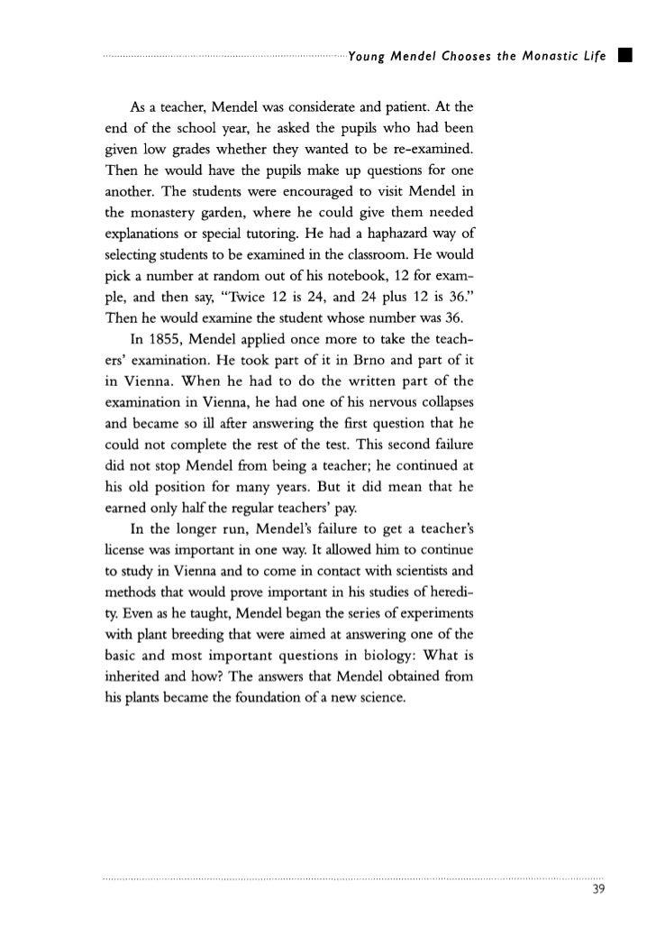 Gregor mendel – Gregor Mendel Worksheet