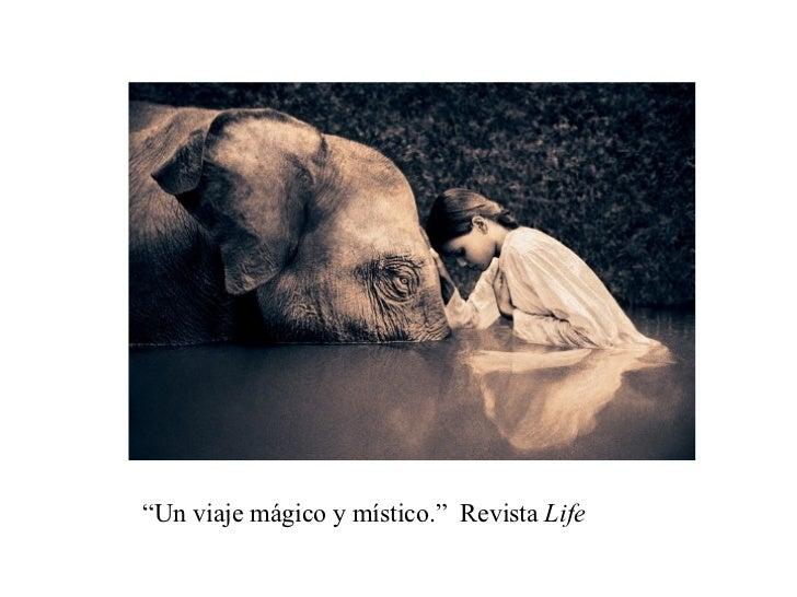 """"""" Un viaje mágico y místico.""""  Revista  Life"""