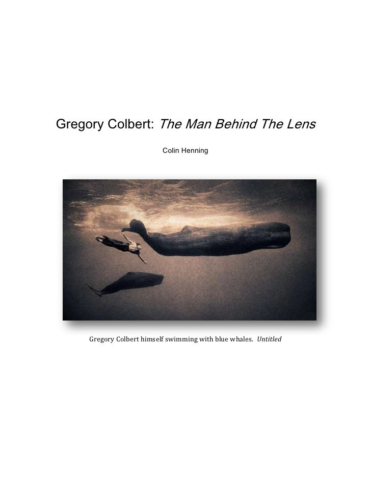 Gregory Colbert: The Man Behind The Lens<br />Colin Henning<br />Gregory Colbert himself swimming with blue whales.  Untit...