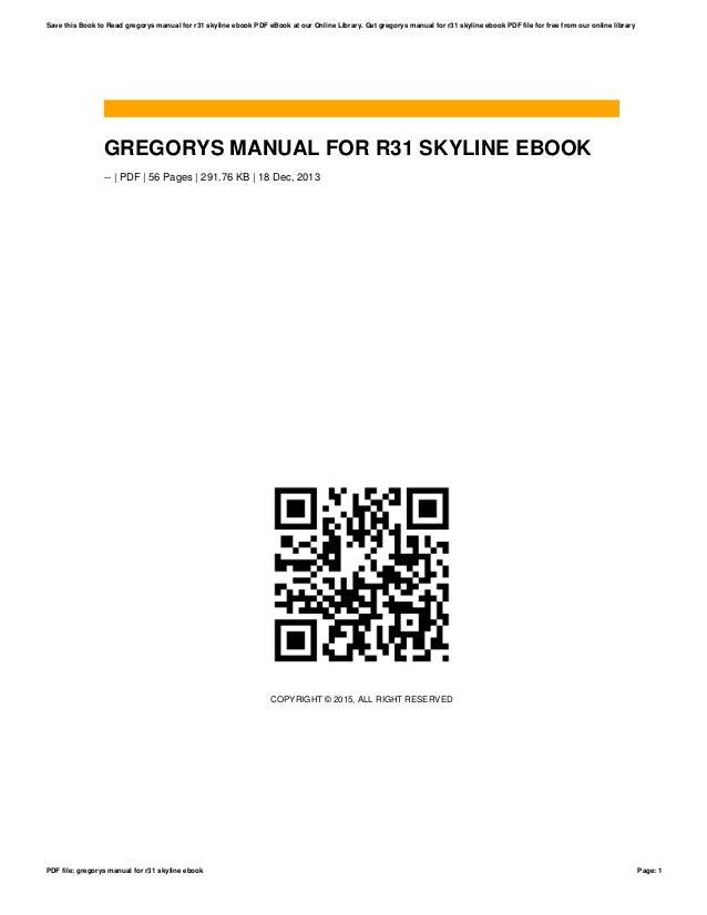 Pages manual ebook array gregorys manual for r31 skyline ebook rh slideshare net fandeluxe Images