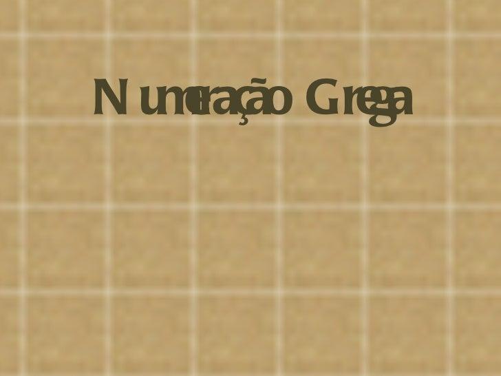Numeração Grega