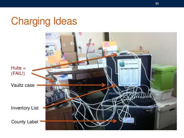 Hubs = (FAIL!) Charging Ideas Vaultz case Inventory List 11 County Label