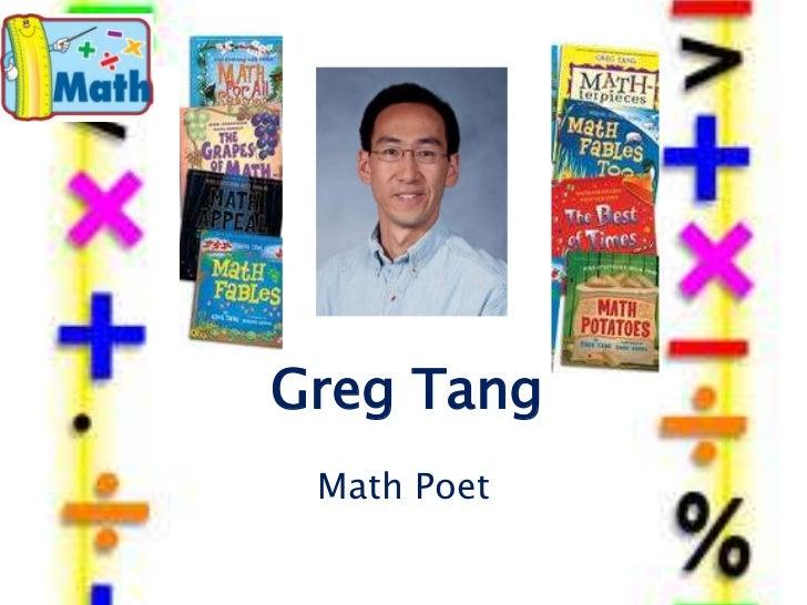Greg Tang Math Poet