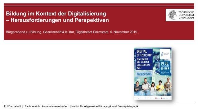 TU Darmstadt | Fachbereich Humanwissenschaften | Institut für Allgemeine Pädagogik und Berufspädagogik Medienpädagogik, Fr...