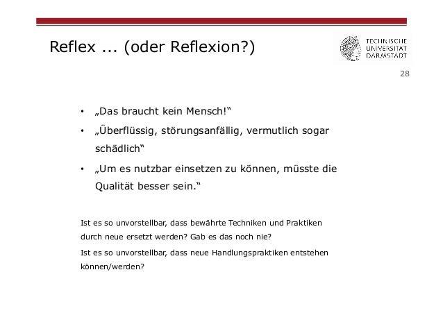 """Reflex ... (oder Reflexion?) 28  •  """"Das braucht kein Mensch!""""  •  """"Überflüssig, störungsanfällig, vermutlich sogar schä..."""