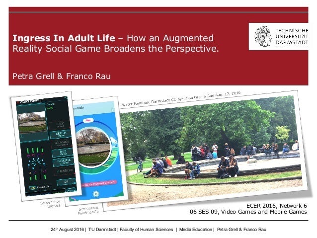 24th August 2016   TU Darmstadt   Faculty of Human Sciences   Media Education   Petra Grell & Franco Rau Petra Grell & Fra...