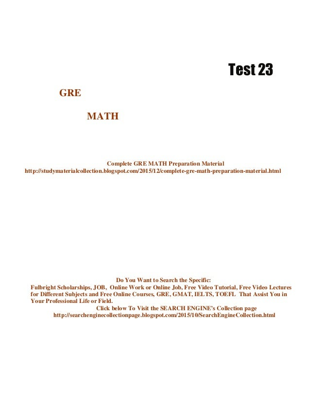 Mathematics, Statistics and Computer Science