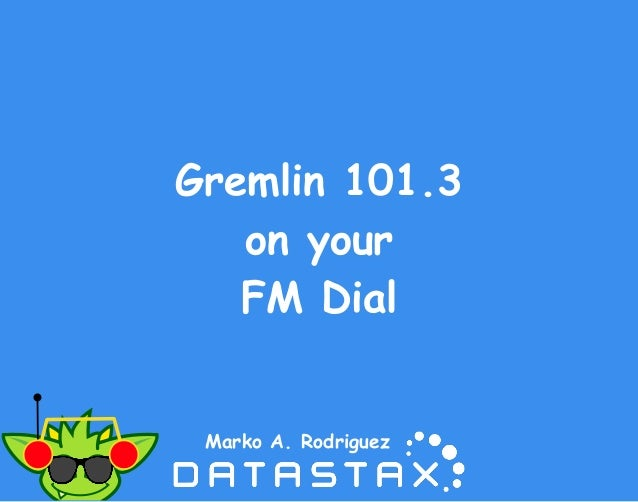 Gremlin 101.3 on your FM Dial Marko A. Rodriguez