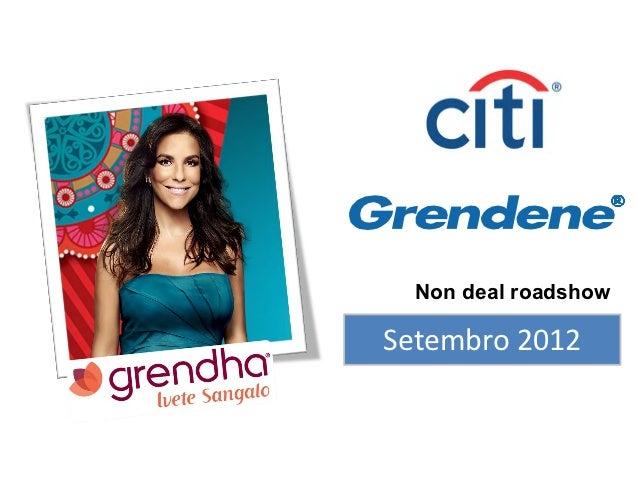 Non deal roadshowSetembro 2012
