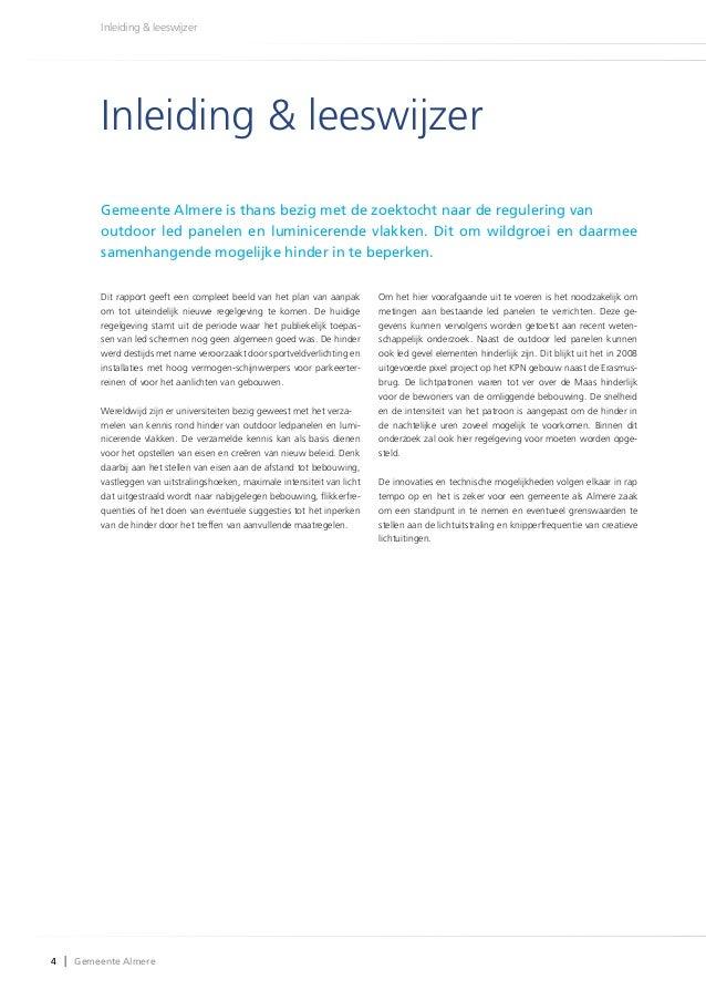 leeswijzer plan van aanpak Grenswaarden led billboards en luminicerende vlakken april 2014 leeswijzer plan van aanpak