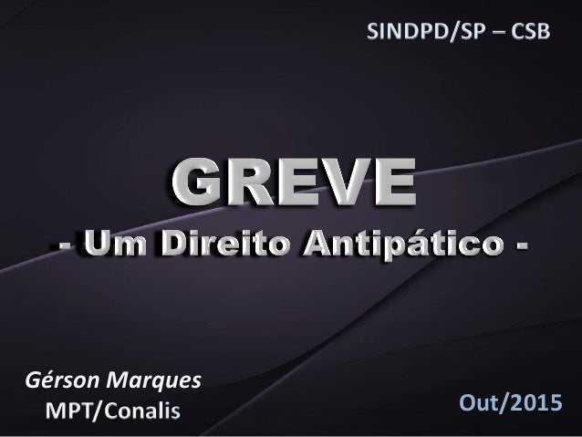 SINDPD/SP – CSB Gérson Marques MPT/Conalis Out/2015