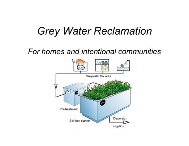 Grey Water Reclamation  For homes and intentional communities  5.,  '       Pre-lreatment  ' -V . - ', -  Sorl-box  L, ;,;...