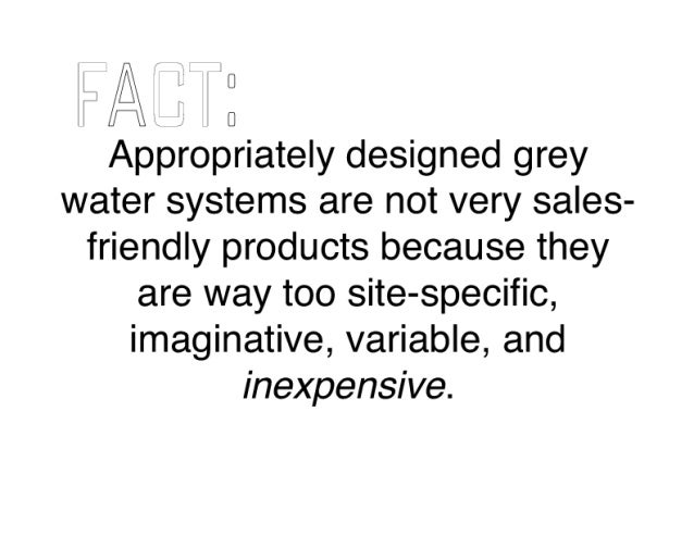 M I l N  U I ifll I [I  Appropriately designed grey water systems are not very sales- friendly products because they are w...