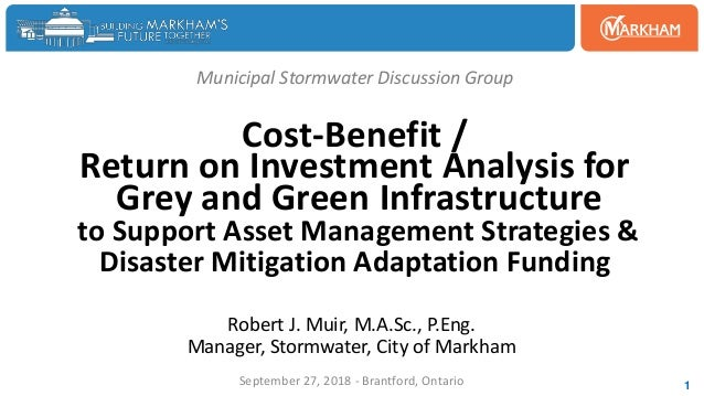 Municipal Stormwater Discussion Group Cost-Benefit / Return on Investment Analysis for Grey and Green Infrastructure to Su...