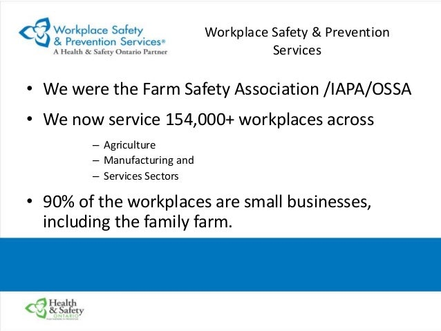 occupational health and safety act ohsa and agriculture