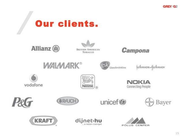 Our clients.               15