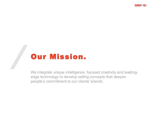 Our Mission.We integrate unique intelligence, focused creativity and leading-edge technology to develop selling concepts t...