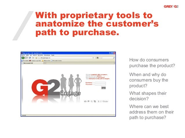 With proprietary tools toanatomize the customer'spath to purchase.                   How do consumers                   pu...