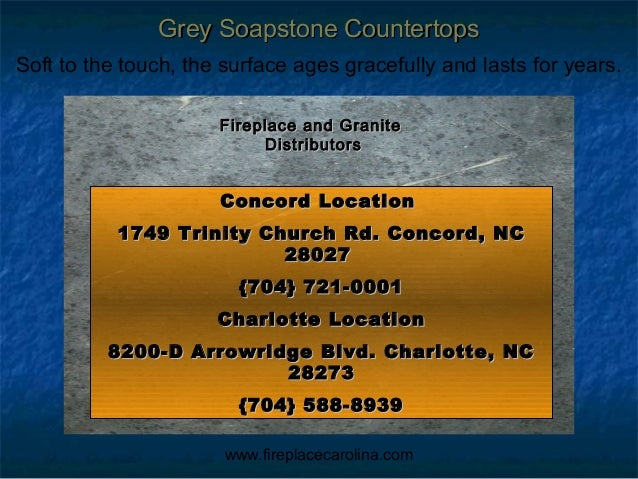 Grey soapstone kitchen countertops installed in Charlotte NC