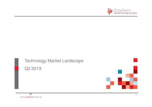 Technology Market Landscape Q2 2013 1