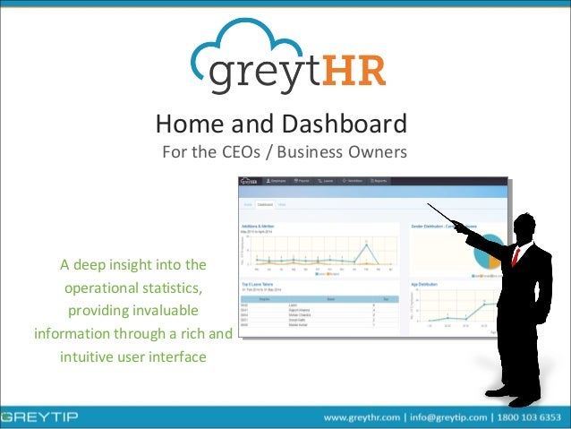 Home and Dashboard A deep insight into the operational statistics, providing invaluable information through a rich and int...