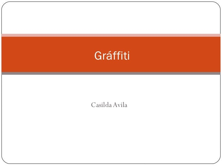 Casilda Avila Gráffiti