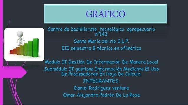 GRÁFICO Centro de bachillerato tecnológico agropecuario n°143 Santa María del rio S.L.P. III semestre B técnico en ofimáti...
