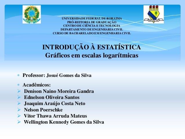UNIVERSIDADE FEDERAL DE RORAIMA  PRÓ-REITORIA DE GRADUAÇÃO  CENTRO DE CIÊNCIA E TECNOLOGIA  DEPARTAMENTO DE ENGENHARIA CIV...