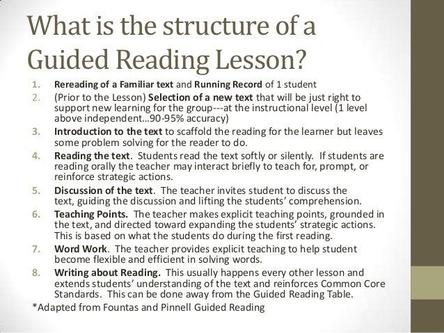 Guided Reading Fountas And Pinnell