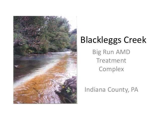 Blackleggs Creek Big Run AMD Treatment Complex Indiana County, PA