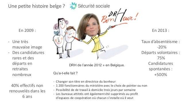 Une petite histoire belge ? En 2009 : - Une très mauvaise image - Des candidatures rares et des départs en retraites nombr...