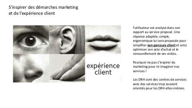 S'inspirer des démarches marketing et de l'expérience client l'utilisateur est analysé dans son rapport au service proposé...