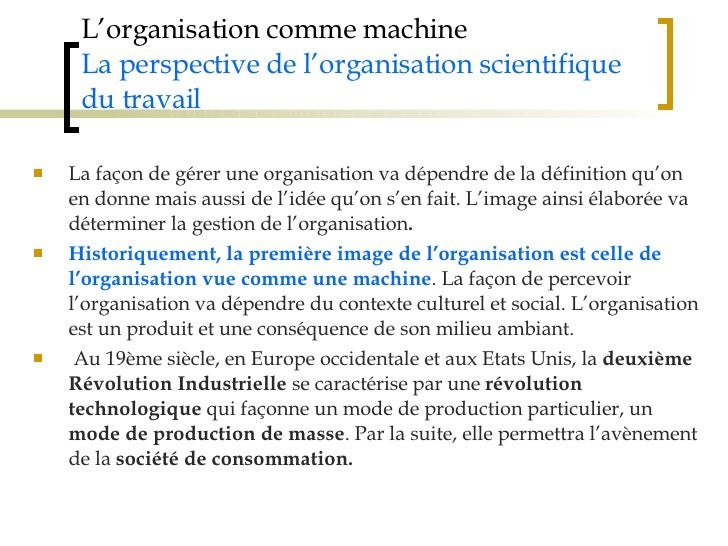 the organisation as a machine Images of organization-the executive edition is a monumental work mechanization takes command organizations as machines 17.