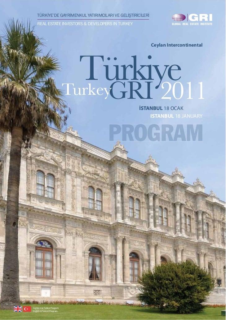 TÜRKİYE'DE GAYRİMENKUL YATIRIMCILARI VE GELİŞTİRİCİLERİ    REAL ESTATE INVESTORS & DEVELOPERS IN TURKEY                   ...