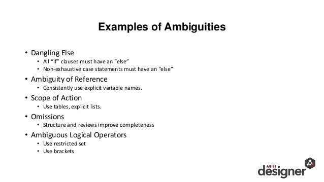 Ambiguous Requirements Translating The Message From C