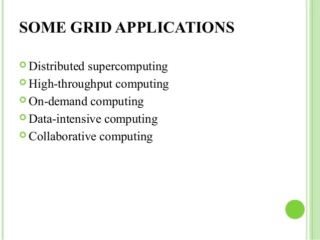 research paper on grid computing applications
