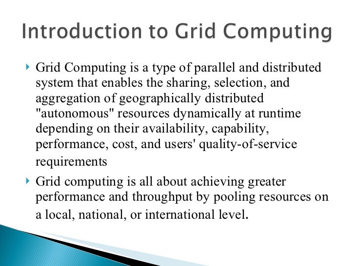 Grid Computing - PowerPoint PPT Presentation