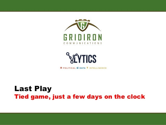 Last PlayTied game, just a few days on the clock