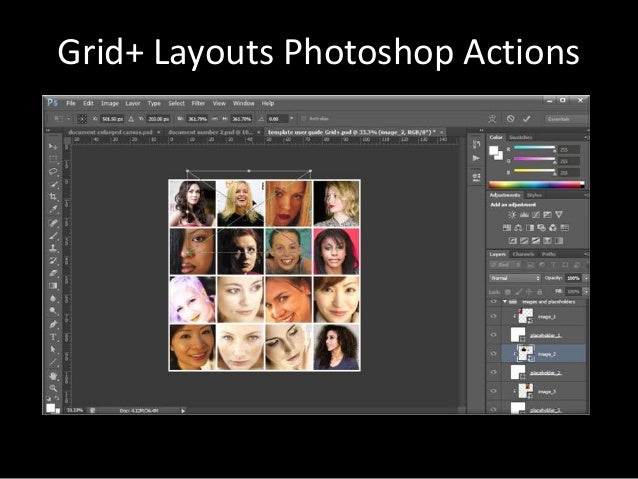 Grid+ Layouts Photoshop Actions