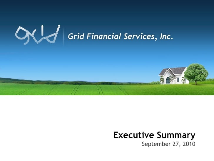 Executive Summary September 27, 2010